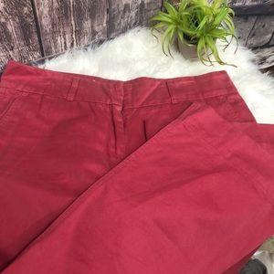 Vineyard Vines sz 8 coral khaki wide leg pants